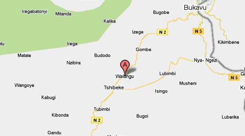 Carte de Walungu au Sud-kivu