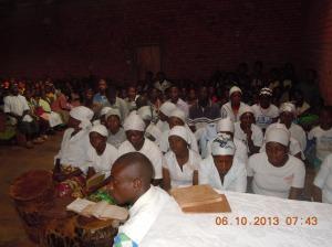 chantres liturgique à Nyabangere
