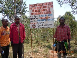 Targa del progetto acqua a Nyabangere 2012